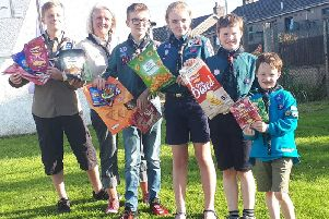 Inverurie Scout Group is supporting the Crisps for Helimed 79 campaign to help raise cash for a second life-saving aircraft for the North-east by 2020