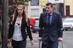 Nicholas Keith Warner and wife Kaylee pictured at Ballymena court