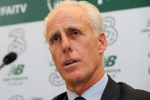 Newly appointed Republic of Ireland manager Mick McCarthy during Sunday's press conference