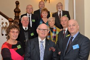 David Hunter (front right), CEO of AEL, with board members at the 20th anniversary celebrations in Larne Town Hall. INLT 48-008-PSB