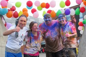 The Colour Run is a popular part of Shoreham Academy's Tough Runner charity event