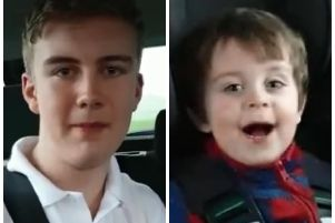 Ty and three year-old brother, Chase. (Video: courtesy of the Music Yard, Larne)