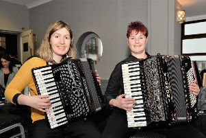 Elaine Brennan and Louise Boomer competed in the NI Accordion Championships in Carrickfergus. INCT 07-006-PSB