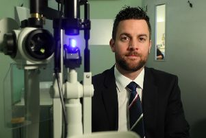 Darren Caulfield, optometry director, Specsavers, in Larne.