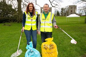 Cllr. Lindsay Millar, Mayor of Mid & East Antrim Borough Council and Ian Humphreys, Chief Executive of Keep Northern Ireland Beautiful.