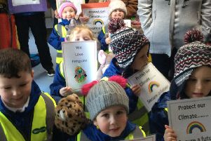 Children from St. Anthony's Nursery School took part in Youth 4 Climate Change Day at Larne Market Yard.