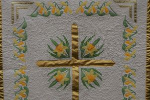 One of the more traditional quilts in the exhibition.