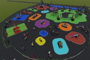 The brand new play area at Rathcoole People's Park