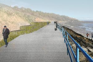 Artist's impression of a stretch of the walk after work is completed.