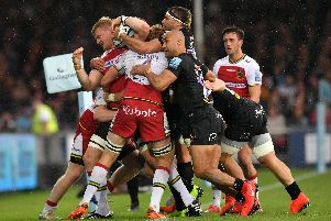 Saints and Exeter scrapped it out