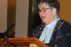 Rev. Gabrielle Farquhar addresses the congregation. Photos by Desi Campbell.