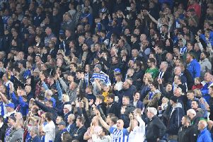 Albion fans pictured at the Amex. Picture by PW Sporting Photography