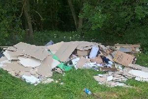 The flytipped waste