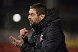 Toals County Antrim Shield Semi Final 'Seaview, Belfast 27/11/2018'Crusaders v Larne'Larnes manager Tiernan Lynch'Mandatory Credit �INPHO/Stephen Hamilton