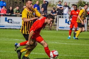 Jordan Lever's last-gasp winner earned Town a preliminary round tie with Cleethorpes. Picture: Lewis Pickersgill Photography EMN-191208-103010002