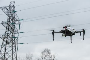 Drone users are being warned to stay away from overhead power lines and substations.
