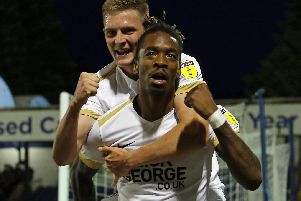 Ivan Toney grabbed a goal for Posh at Southend (pictures: Joe Dent/theposh.com)