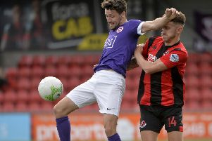 Larne's Tomas Cosgrove. Pic by INPHO.