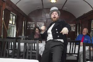 Events included a live performance in a Railway Preservation Society of Ireland dining car at Whitehead.