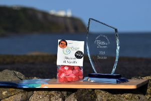 The winning confectionery and Irish Food trophy.