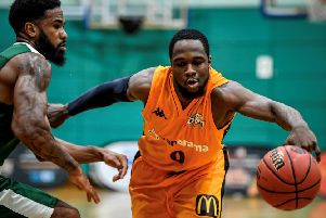 Storm guard Mike Williams, in action earlier this season against Westminster,  was the NBL Division One Player of the Week for last week.