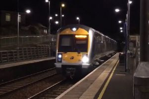 Police were alerted to the incident by the train driver. (PSNI image).