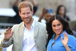 Harry and Meghan in South Africa. Picture credit: Dominic Lipinski/PA.