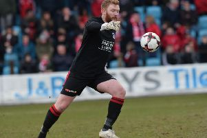 Larne goalkeeper Conor Devlin. Pic by Pacemaker.