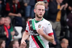John Herron has left Glentoran to sign for Larne. Pic by Pacemaker.