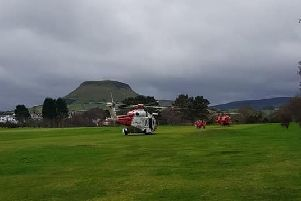 The Coastguard helicopter took the casualty to hospital.