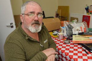Angus Silverstone, 55, of Melton, who went on hunger strike for 47 days until council moved him and DWP paid his universal credit and PIP. He has now just moved into his new ground floor flat'PHOTO Leicester Mercury EMN-200227-180209001