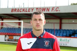 Aaron Williams got the goal which ensured Brackley Town will finish in third place at least