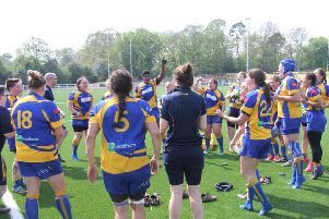 Kenilworth Ladies celebrate the news that they have gained promotion. Picture submitted