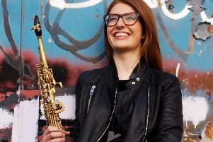 Jess Gillam played saxophone in the concert