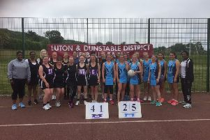 Black Pearls and Leighton Buzzard Eagles after their Plate final in which Pearls ran out 41-25 winners