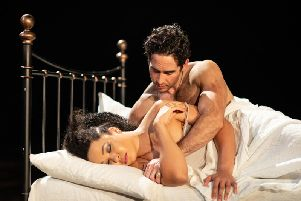 Amber James and Gavin Fowler as Cressida and Troilus. Picture: Helen Maybanks