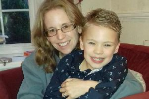 Kathy Bly and her son Ben who is now nine.