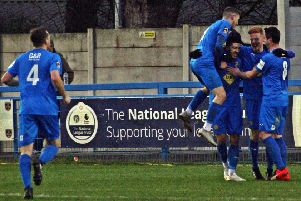 Brakes celebrate Jordan Murphy's equaliser. Pictures: Sally Ellis