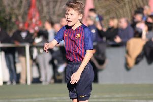 Ethan Stapley is the captain of the Barcelona under-10s