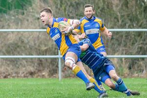 Ed Hannam scored a hat-trick and Gareth Renowden touched down twice as Kenilworth won at Rugby St Andrews. Picture: Mike Baker
