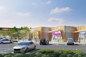 An artist's impression of the new cinema and eateries.