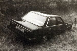 The abandoned Triumph Acclaim car used in the 1994 Loughinisland murders