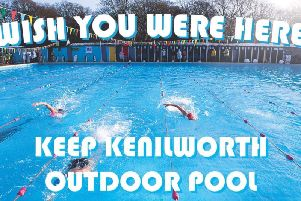 The Restore Kenilworth Lido group is encouraging people to send these postcards to Warwick District Councillors as part of its campaign.