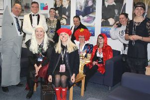Staff at De Aston School dressed for World Book Day EMN-191103-081117001