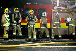 25 MARCH 2019 MCAULEY MULTIMEDIA NIFRS received a call at approximately 22:00hrs tonight to a fire in a building in the Riverside Regional Centre, Coleraine. Seven fire appliances and approximately 35 firefighters from Coleraine, Portstewart, Portrush and Londonderry attended the scene the scene.PICTURE KEVIN MCAULEY/MCAULEY MULTIMEDIA