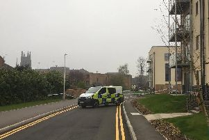 Police cordoned off the area around the underpass at Leamington station where the incident happened.