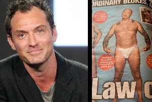 Former Detective Inspector Ian Jarvis poses in Jude Law's tight white pants as seen in The Sun