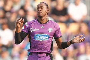 Jofra Archer of the Hurricanes bowls during the Big Bash League