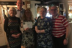 A fundraising event raised hundreds of pounds for a Warwick-based charity. Photo submitted.