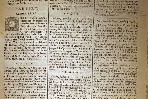 News Letter of April 10 1739 (April 21 modern calendar)